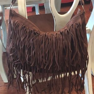 Mossimo Brown Fringe purse in excellent condition!